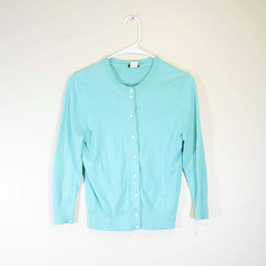 J Crew Small Teal Green Clare Button Down Cotton